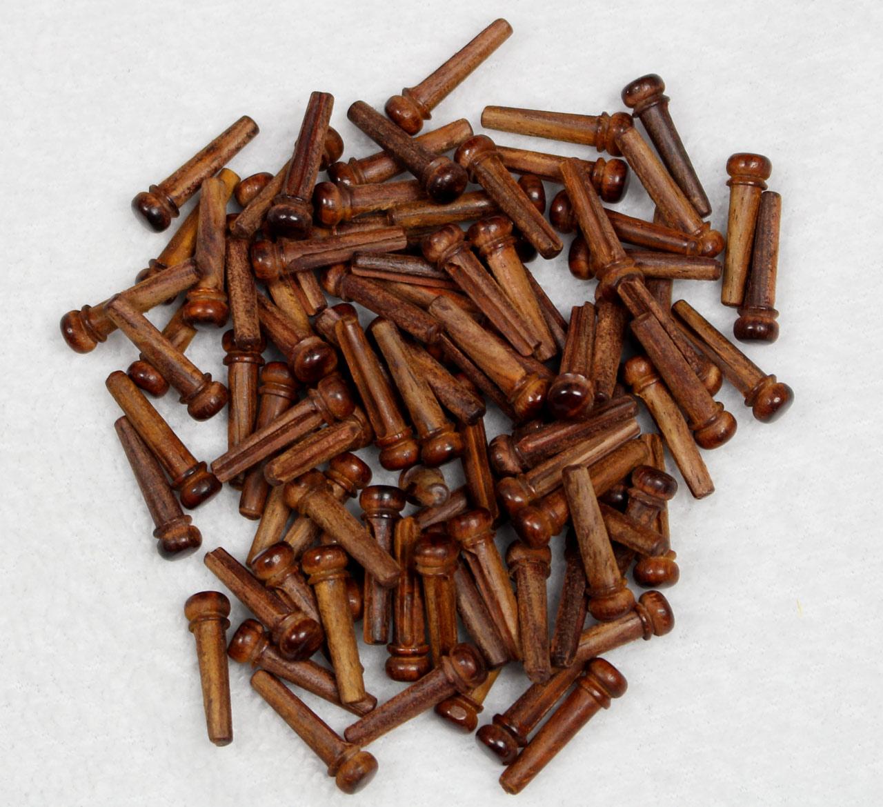 Set of 6 cocobolo rosewood bridge pins for acoustic guitar - Cocobolo granada ...