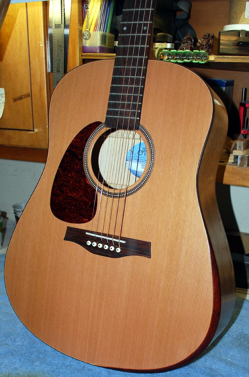 shabby chic guitars seagull left handed s6 with ryan style armrest bevel. Black Bedroom Furniture Sets. Home Design Ideas